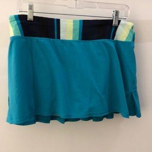 Lululemon blue and green skirt, sz 8, 65691
